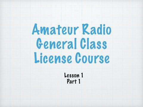 General License Lesson 1 Part 1