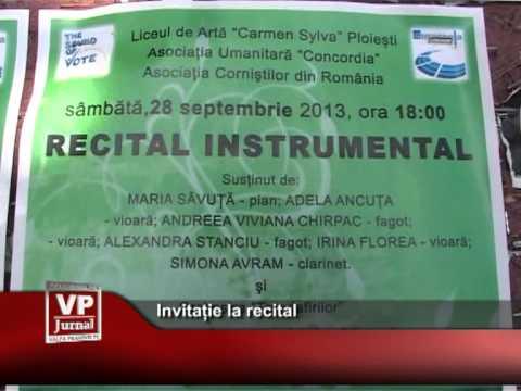 Invitație la recital