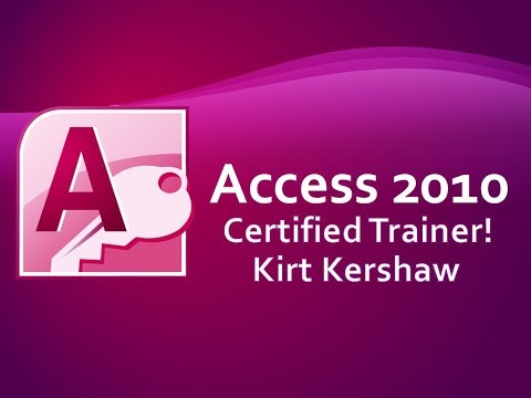 Microsoft Access 2010: Tutorial for Beginners Part 1 - YouTube