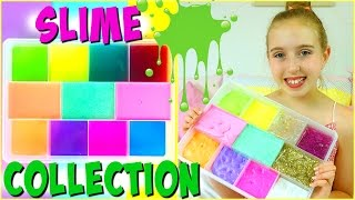 Slime Collection 2017 - Slime Haul and DIY Slime Storage Ideas