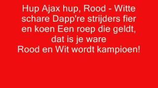 Ajax clublied met songtekst