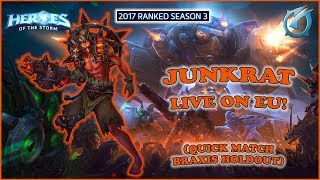 Grubby | Heroes of the Storm - Junkrat - Live on EU! - QM - Braxis Holdout