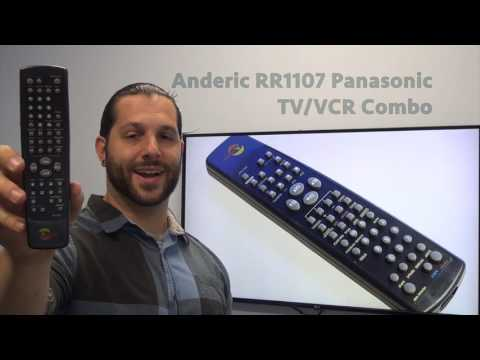 ANDERIC RR1107 Panasonic TV/VCR Combo Remote Control