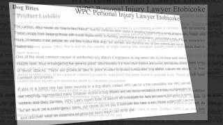 preview picture of video 'Injury Lawyer Etobicoke - WPC Personal Injury Lawyer (800) 299-0336'