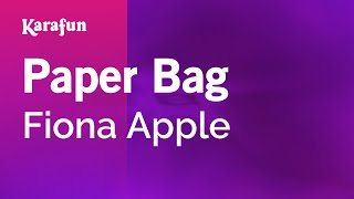 Karaoke Paper Bag - Fiona Apple *