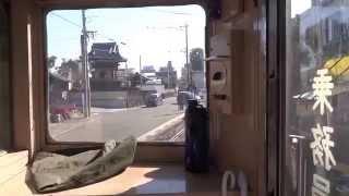 (熊本電鉄)藤崎宮前駅~黒髪駅の併用軌道区間 (先頭車両展望)  その2