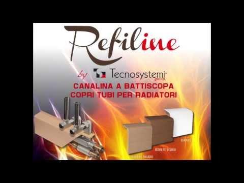 "CANALINA A BATTISCOPA COPRITUBI PER RADIATORI ""REFILINE"" : INSTALLAZIONE"
