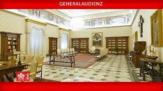 Generalaudienz  11. November 2020       Papst Franziskus