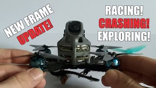 Micro Frame Development Update - DJI Caddx Vista 3 inch Racing, Crashing and Exploring