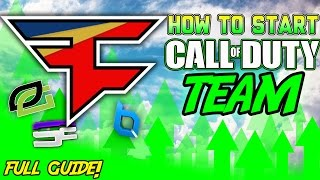 How to Start a Call of Duty Clan, Team or Gaming Organization