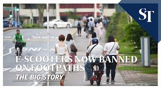 E-scooters now banned on footpaths | THE BIG STORY | The Straits Times