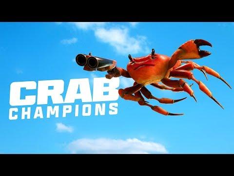 《螃蟹冠軍》(Crab Champions)一款螃蟹對決的,超ㄎ一ㄤ遊戲