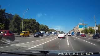 Видео ДТП на проспекте Слобожанский 21.06.2018г.