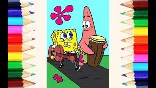 Cara Mewarnai Spongebob Video Prikoly Video Smotret