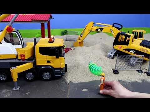 Bagger, Lastwagen, Kran, Truck & Traktor Baustelle für Kinder   Alle BRUDER Toys Spielzeugautos
