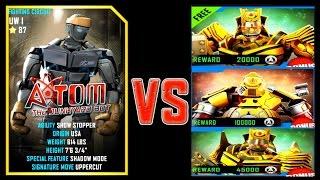 Real Steel WRB ATOM VS SUMMER GAMES 2016 ROBOTS Series Fights NEW ROBOT (Живая Сталь)