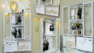 Dollar Tree DIY Hanging Jewelry Organizer| Easy And Inexpensive Jewelry Display DIY