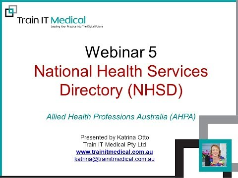 Video of National Health Services Directory