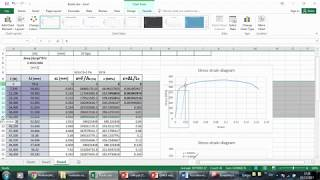 stress strain analysis on excel