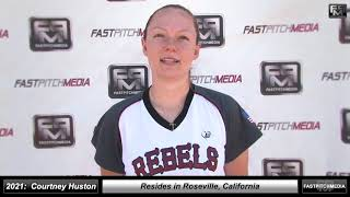 2021 Courtney Huston Catcher and Outfield Softball Skills Video - Rebels Smith