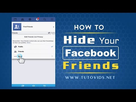 How to Hide Facebook Friends List on Mobile