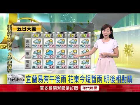 5/14 昨高雄月眉飆35.5度 台北33.9度 今一樣熱!