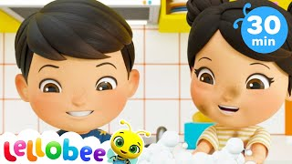 Wash Your Hands Song | +More Nursery Rhymes & Kids Songs | ABCs and 123s | Little Baby Bum