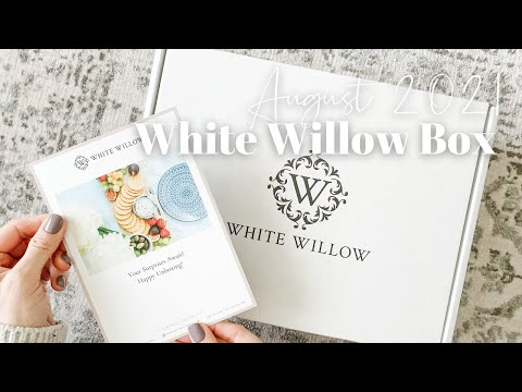 White Willow Box Unboxing August 2021