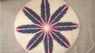 How To Knit A Thaalposh/ Table Mat(Design No.3)|Hindi