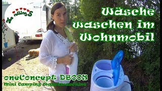 Camping Waschmaschine im Wohnmobil | oneconcept DB003 | personal camping laundry service