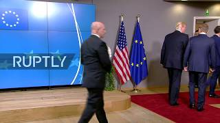 LIVE: Donald Trump arrives at EU Council to meet with EU leaders
