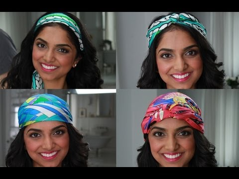 4 Glam (and Supereasy) Ways to Wear a Hair Wrap