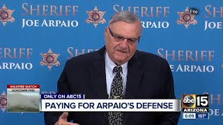 How is ex-Sheriff Joe Arpaio paying court fees?
