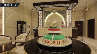 В Чечне Мохаммеду Салаху подарили на день рождения 100-килограммовый торт