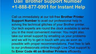 Steps to Fix Brother Printer Error 46