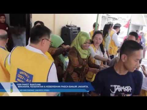 Lions Club Bagikan 1000 Paket Bantuan Makanan, Kesehatan & Kebersihan Pasca Banjir Jakarta