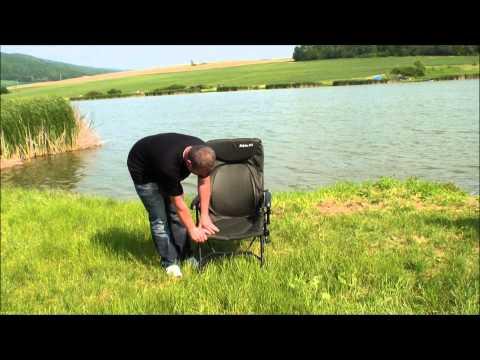 Delphin RS horgászfotel (180kg teherbírás, dönthető háttámla) videó