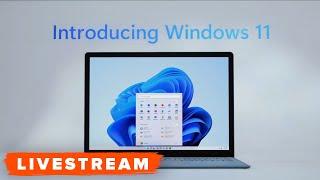 Microsoft Windows 11 Reveal Event (Crashing / Broken Version) - Original Livestream