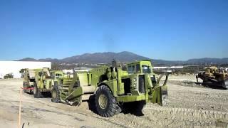 TEREX TS-24B scrapers push-pulling