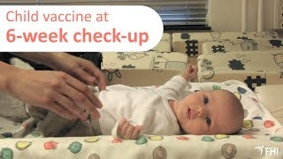 Child Vaccines at six week check-up