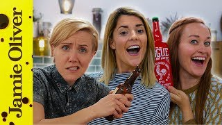 Hannah Hart  Mamrie Hart & Grace Helbig | Drinks Tube UK vs USA Beer Challenge