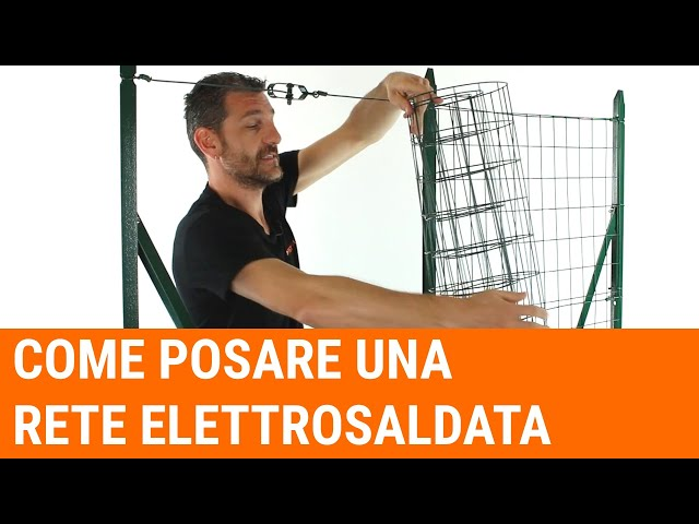 How to install an electro-welded mesh