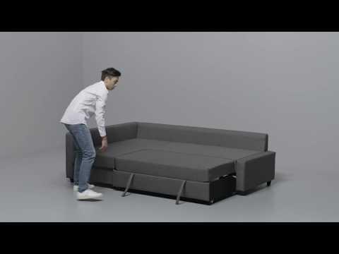 IKEA - FRIHETEN: Anleitung vom Ecksofa zum Bett