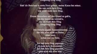 Annett Louisan -  Dein Ding (Lyrics)