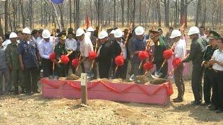 Khởi công xây dựng 2 cột mốc biên giới Việt Nam - Campuchia