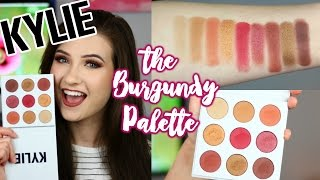 KYLIE Jenner Kyshadow The BURGUNDY Palette  Brush Swatches And Review