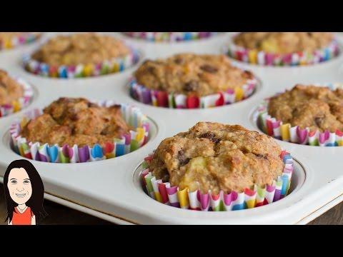 Banana Chocolate Chip Muffins - Easy Vegan Recipe - YUM!