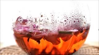 鍋島ハマナス園の美しい花弁入りローズヒップティ