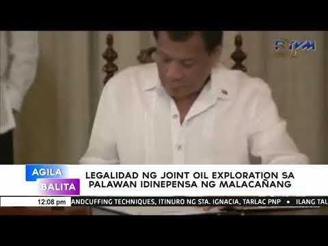 [EagleNewsPH]  Legalidad ng joint oil exploration sa Palawan, idinepensa ng Malacañang
