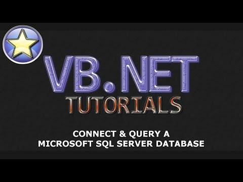 VB.NET Tutorial – Connect & Query a Microsoft SQL Server Database – Part 1